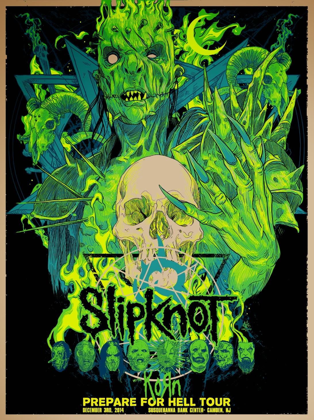 Inside The Rock Poster Frame Blog Vance Kelly Slipknot