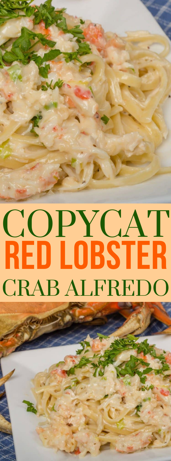 COPYCAT RED LOBSTER CRAB ALFREDO #Seafood #Dinner