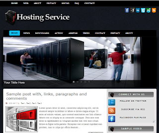 Hosting Service Blogger Template