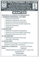 Jobs4Lecturers: RVS Polytechnic College