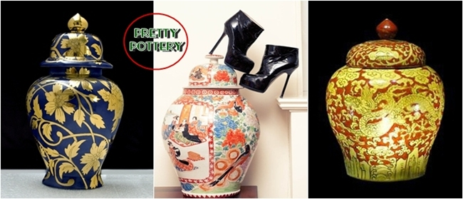 Chinese pottery, Ming dynasty inspired vases