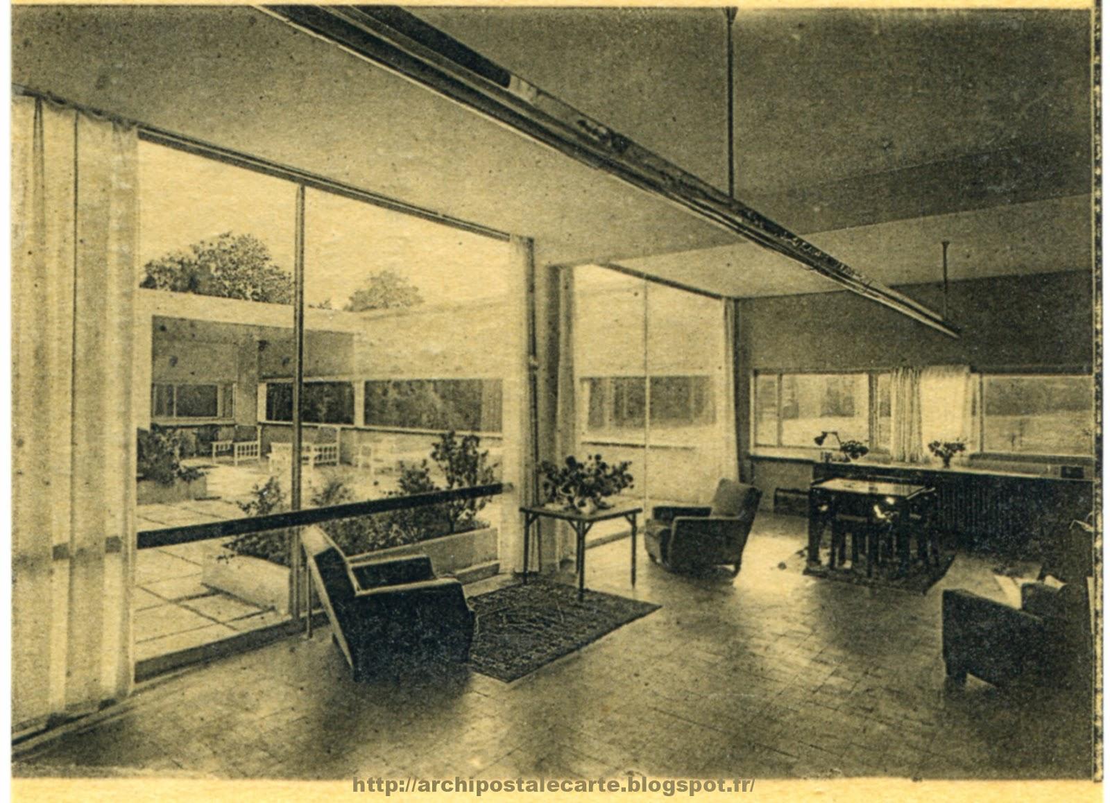 architectures de cartes postales 2 le corbusier pierre chareau andr lur at erich mendelsohn. Black Bedroom Furniture Sets. Home Design Ideas
