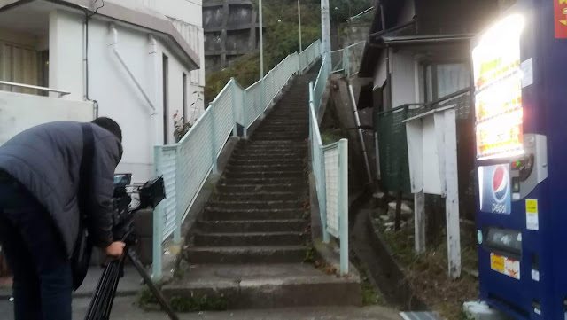 Stairs leading to the suburb of Midorigaoka.