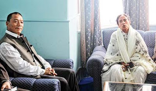 Bimal Gurung Mamata Banerjee meeting at Richmond Hills in Darjeeling