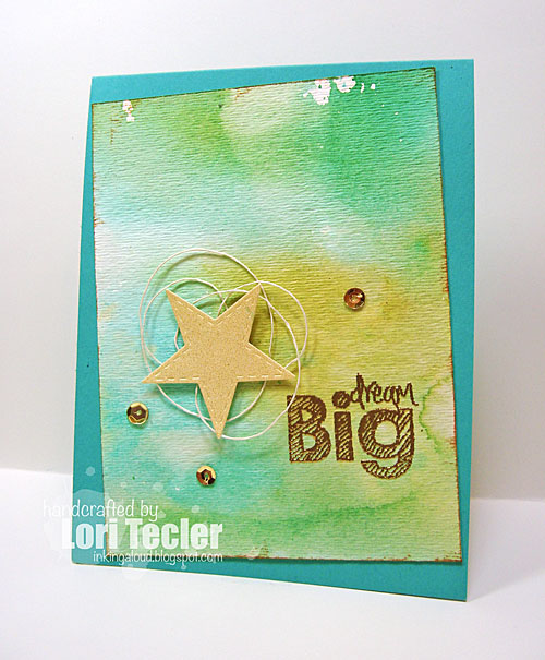 Dream Big card-designed by Lori Tecler/Inking Aloud-stamps and dies from Lil' Inker Designs