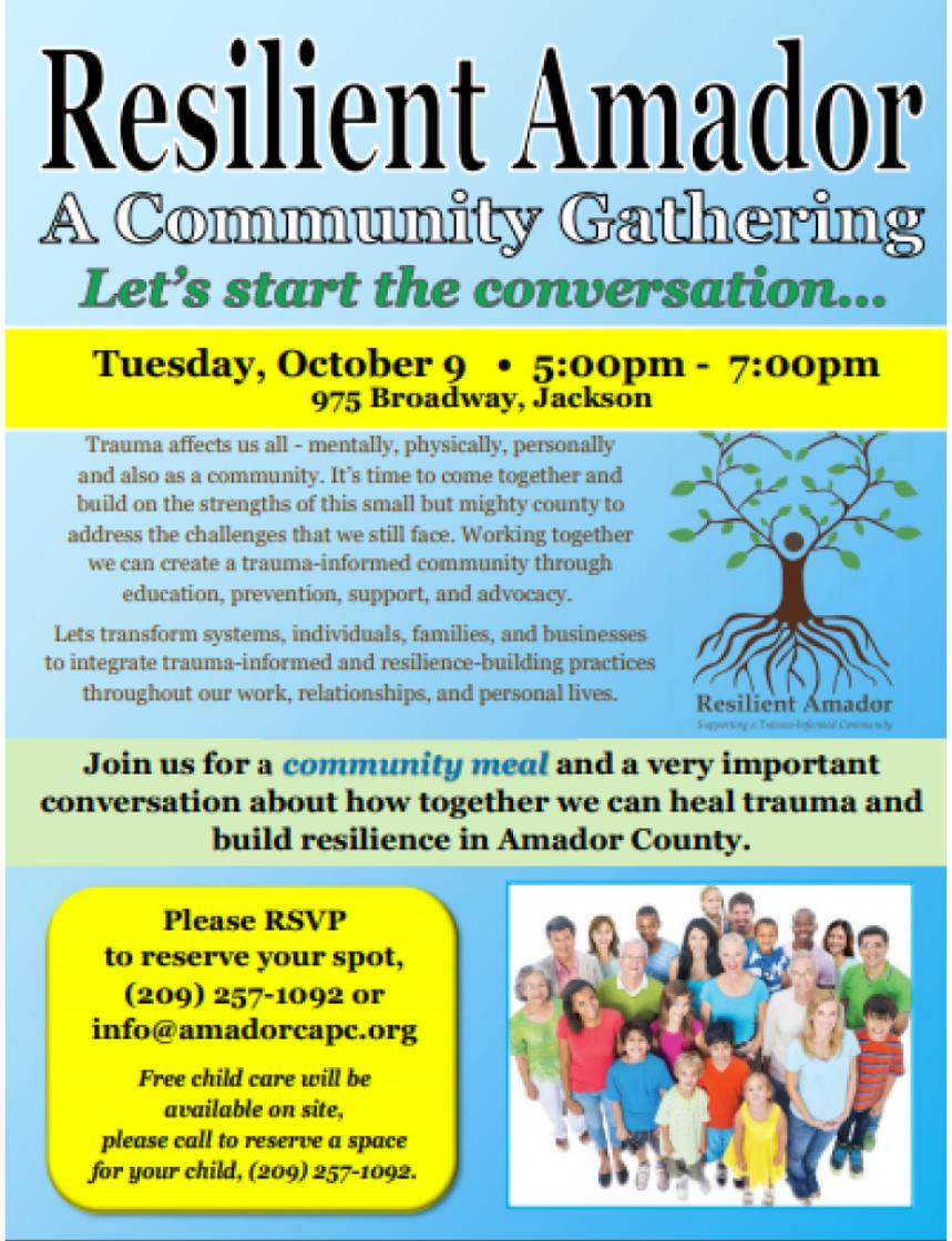 resilient amador community gathering tues oct 9