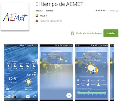 https://play.google.com/store/apps/details?id=es.aemet