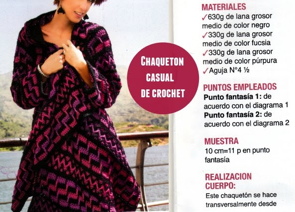 saco, chaqueton etnico, crochet, rectangular, tricot