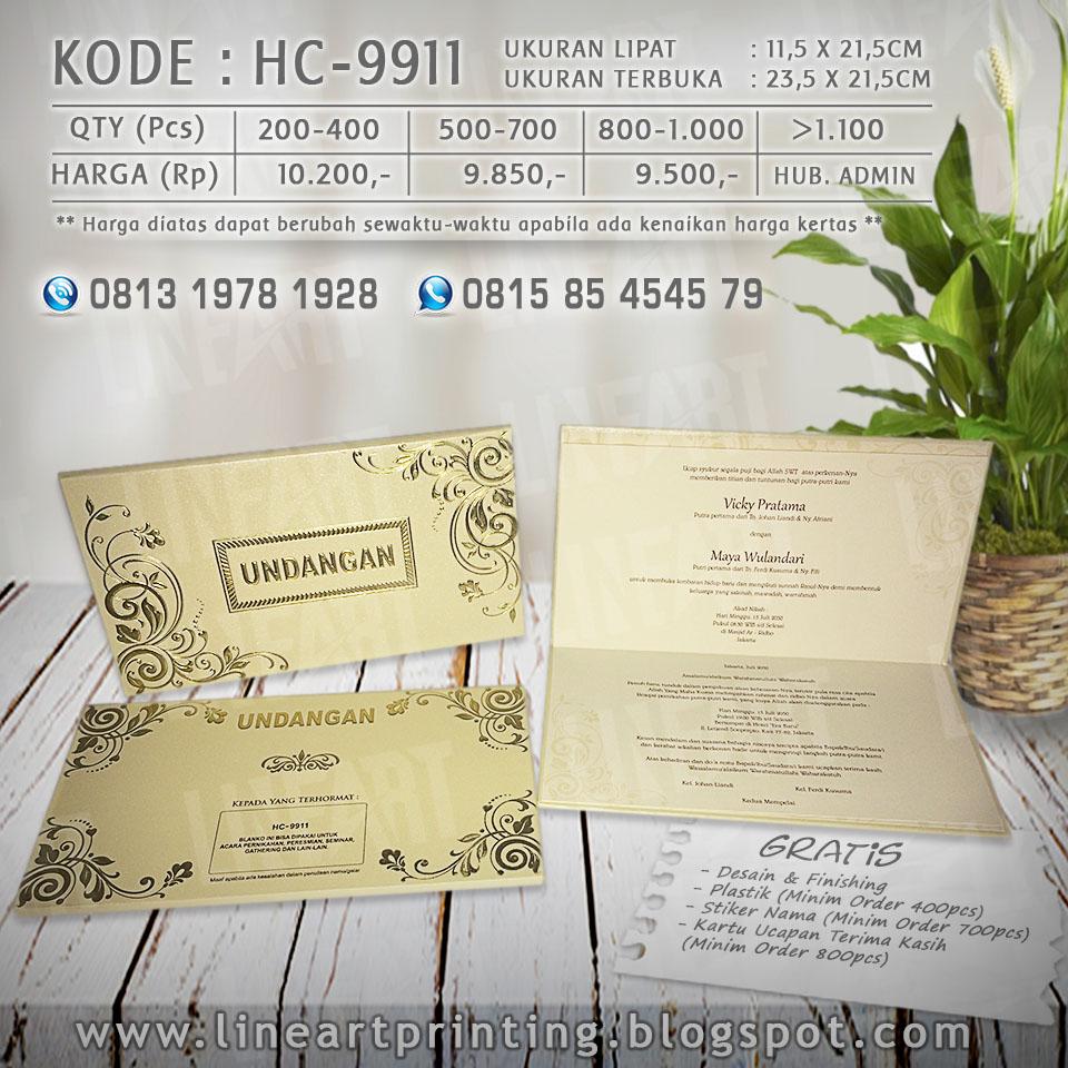 Lineart Printing Harga Undangan Kartu Kode Blangko 88186 Hc 9911