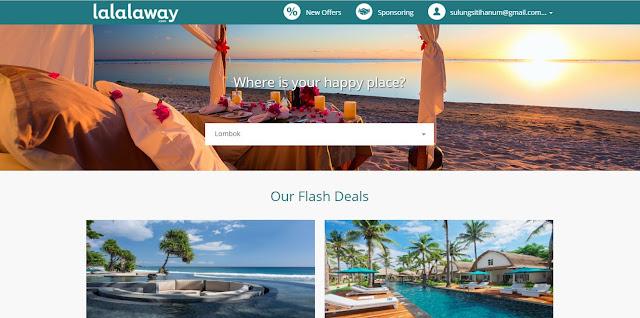 Lalalaway, situs booking hotel mewah yang murah. Image source: www.lalalaway.com