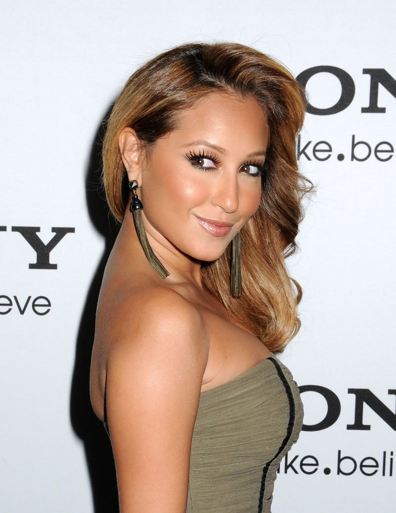 adrienne bailon new hairstyles | angled bob hairstyle