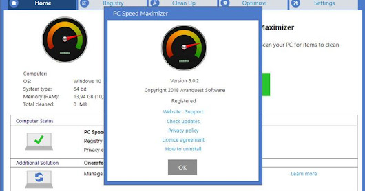 PC Speed Maximizer Full Crack v5.0.2 Terbaru Avanquest