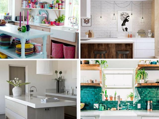 Cozinhas coloridas versus cozinhas sóbrias