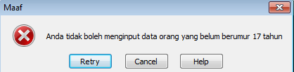 error alert warning pada excel