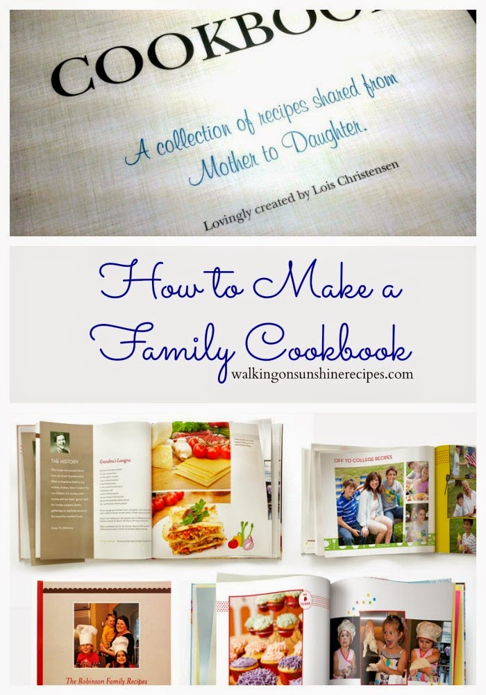 Make your own family cookbook is an easy gift to give to any bride in the family from Walking on Sunshine Recipes.