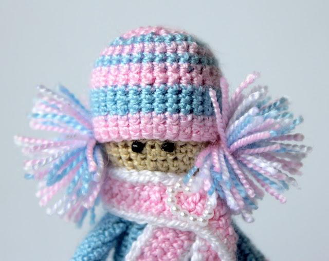 амигуруми, куколка, девочка, крючком
