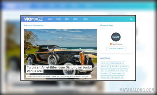 Download Template VioMagz Gratis Punya Mas Sugeng