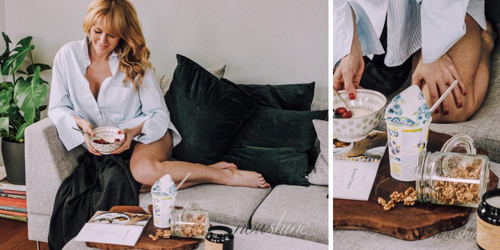 Haferflocken mit Joghurtalternative von Alpro Nowshine ü40 Lifestyle Blog
