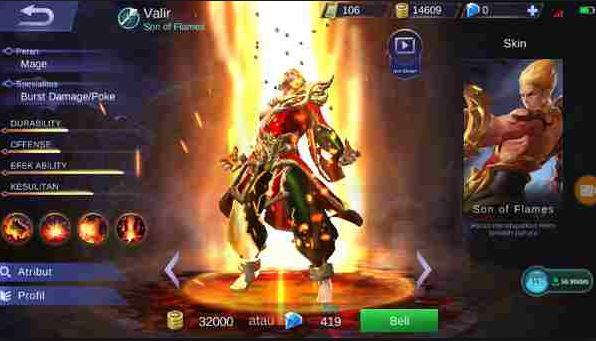 Build Item, Gear dan Emblem Set Valir Mobile Legends