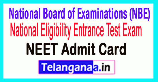 NEET PG Admit Card 2019 Download