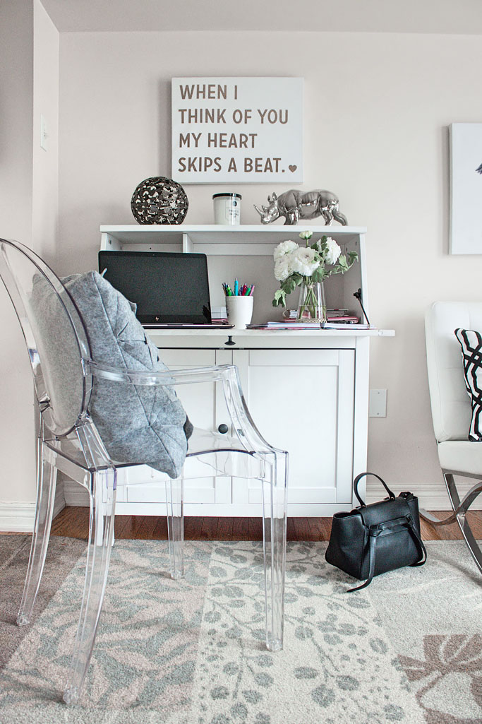Three ways to style an office decor how to post black white grey marble