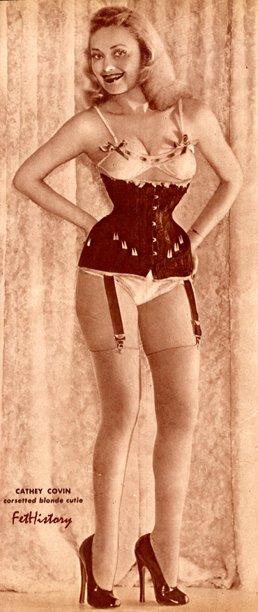 Irving Klaw, Bettie Page, Charles Guyette, corsets, stockings, ultra high-heel shoes, boots