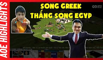 AoE Highlight | Song Greek và SIÊU PHẨM có 1-0-2 của Chim Sẻ Đi Nắng