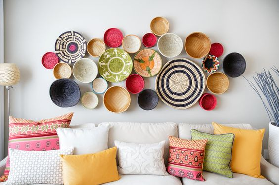 idéias diferentes para decorar parede