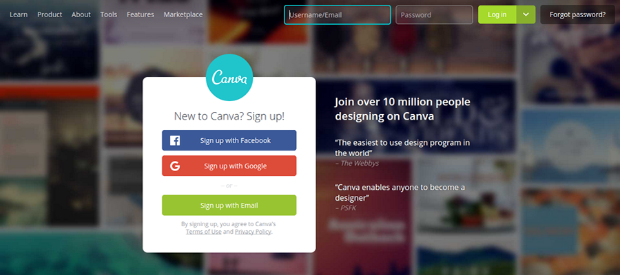 Canva lets you create awesome content marketing materials