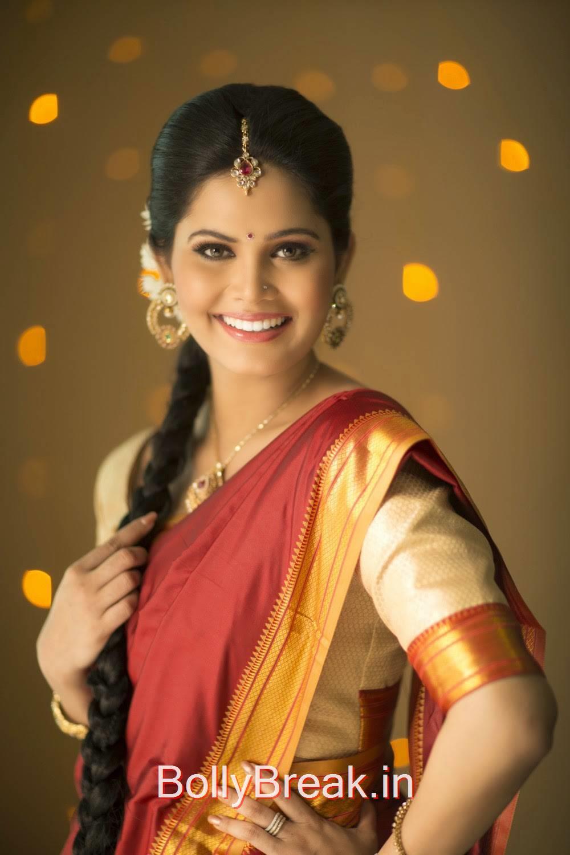 Actress Ashmitha Hot Pics In Saree - Hd Photoshoot Images -3976