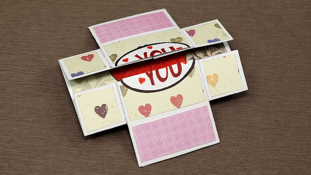DIY Valentine Day Love Card- Never Ending (Endless) Valentine Card Step By Step