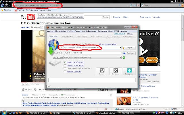 Descargar los vídeos de YouTube en mp3 y vídeo. Pasar los Vídeos de You Tube a Mp3, Avi VCD.. formato vídeo aTube Catcher. Cómo descargar vídeos de YouTube, Google, MySpace, Yahoo... y pasarlos a mp3, mp4 FLV, Avi...