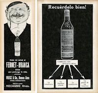 Avisos de Fernet-Branca de 1911 y 1915