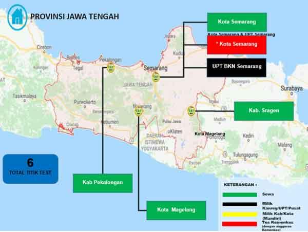 Lokasi Tes Cat BKN Propinsi Jawa Tengah