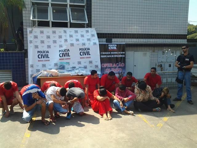 Pessoas presas tráfico drogas em Betim MG