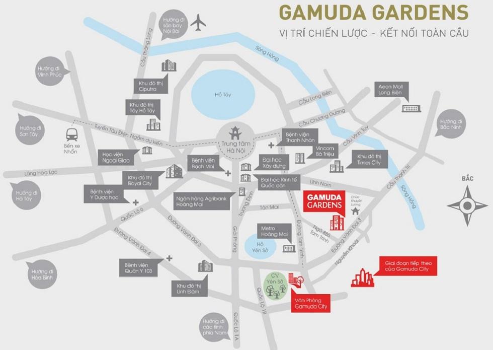 Liên kết vùng dự án Gamuda với các tiện ích trong khu vực