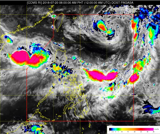 COMS Rainfall intensity image courtesy of DOST-PAGASA.