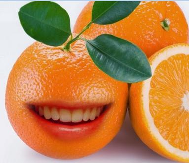 Membuat Jeruk bermulut dan lucu