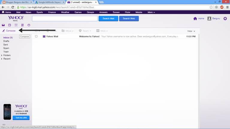 Cara Mengirim Email Lewat Yahoo dengan Lampiran 2