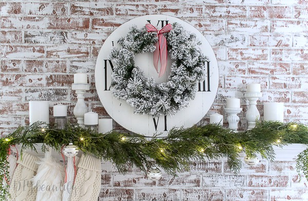 flocked wreath with berries