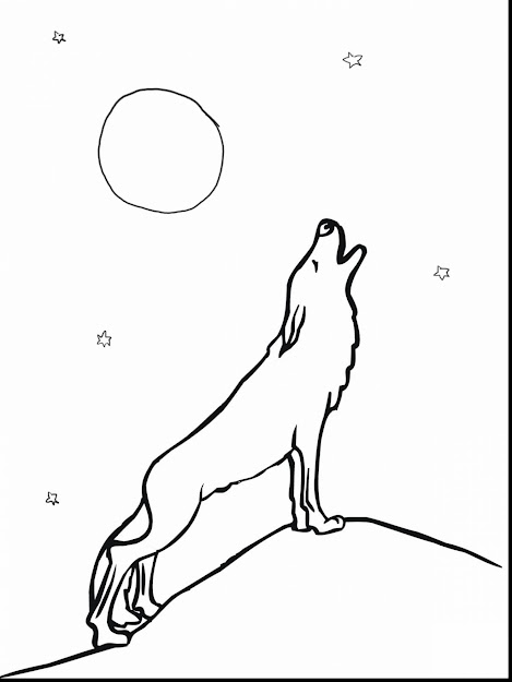 Beautiful Wolves Howling At The Moon Coloring Pages With Wolf Coloring Page  And Wolf Coloring Pages