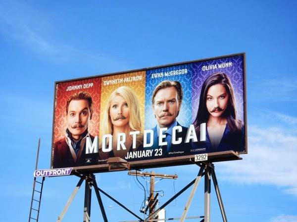 Mortdecai movie billboard
