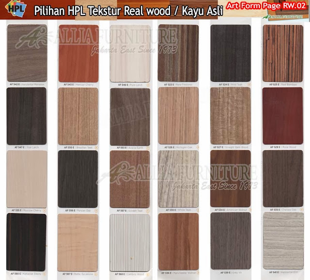 RW.02 HPL Art form motif tekstur kayu asli