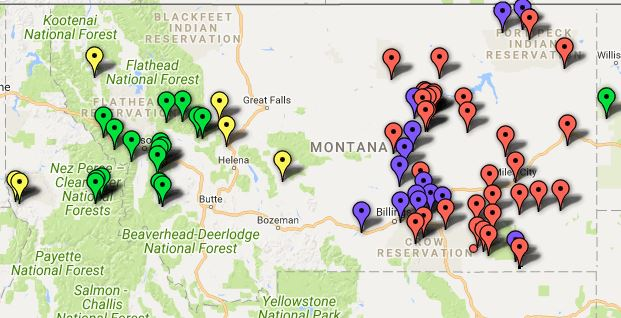 Montana Wildfire Map