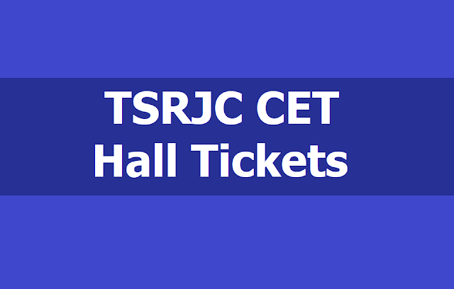 TSRJC CET Hall Tickets 2019 download, Exam date and more details