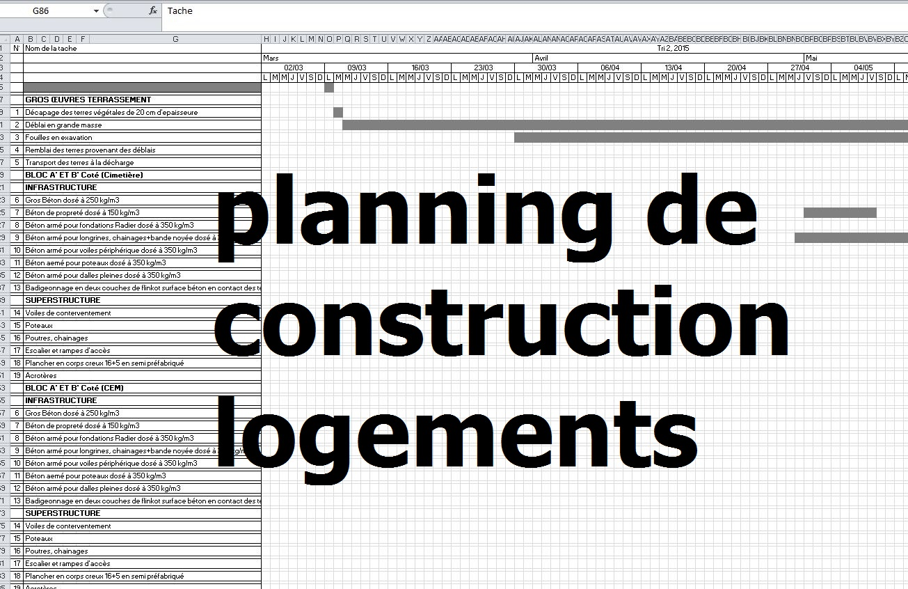 Exemple de modle planning de construction logements excel cours exemple de modle planning de construction logements excel ccuart Gallery