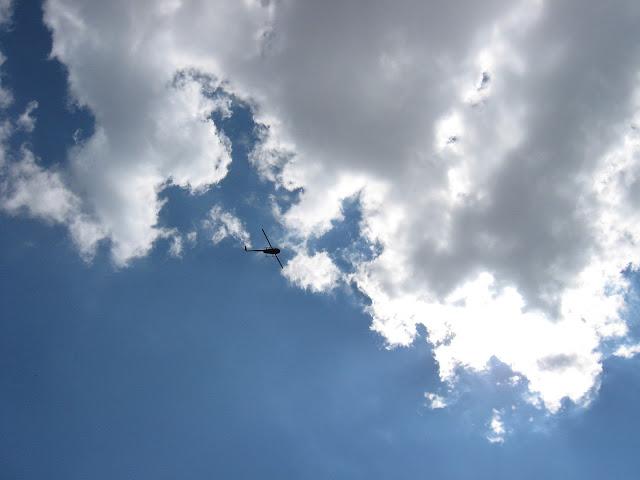небо вертолет