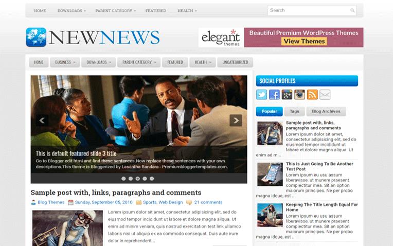NewNews Free Blogger Template