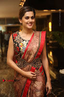 Tapsee Pannu Latest Stills in Red Silk Saree at Anando hma Pre Release Event .COM 0067.JPG