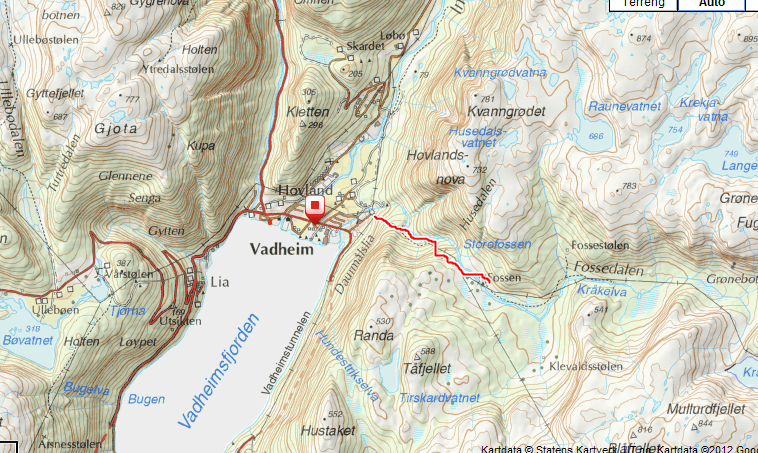 engebøfjellet kart Liv Janne sin tur  og fjellblogg: Fossen   denne gong i Vadheim! engebøfjellet kart
